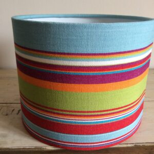 Turquoise, Pink & Lime Stripe