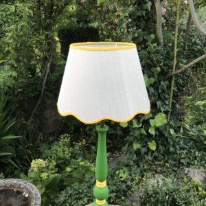 Hettie Lamp Base - Emerald Green & Sunflower Yellow