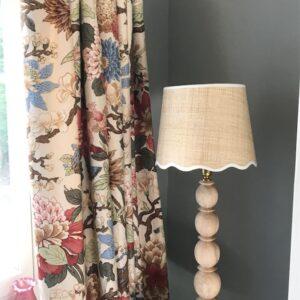 Scalloped edge lampshades